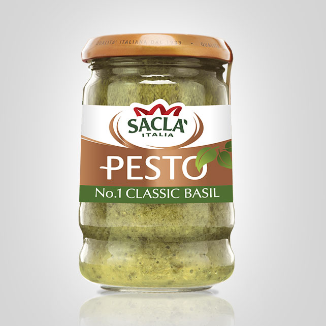 Sacla' Classic Basil Pesto jar