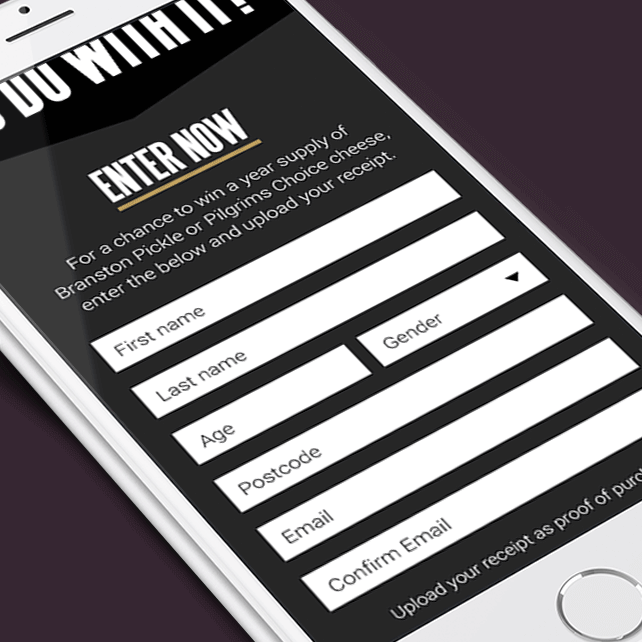 Entry form on a mobile device