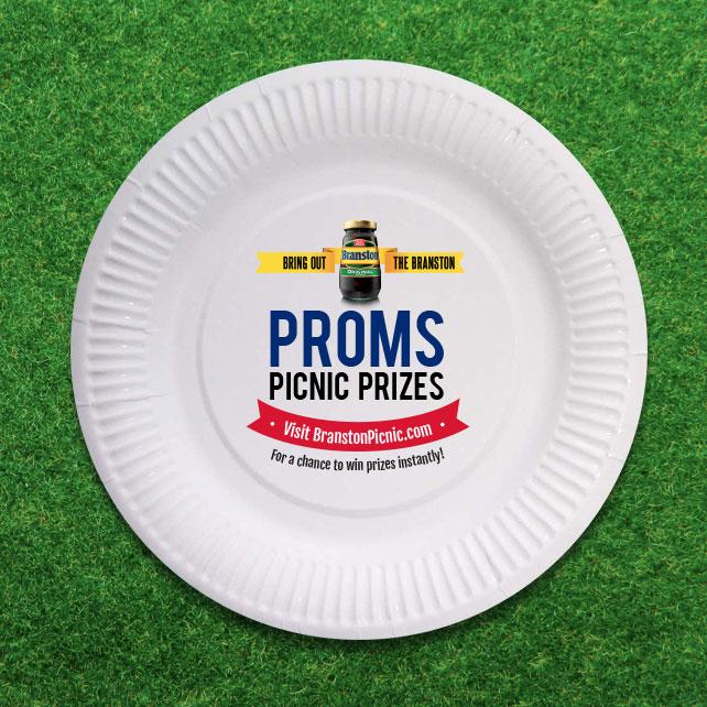 Proms Picnic Prizes plate
