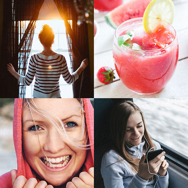 4 images of women and Ocean Spray Cocktail
