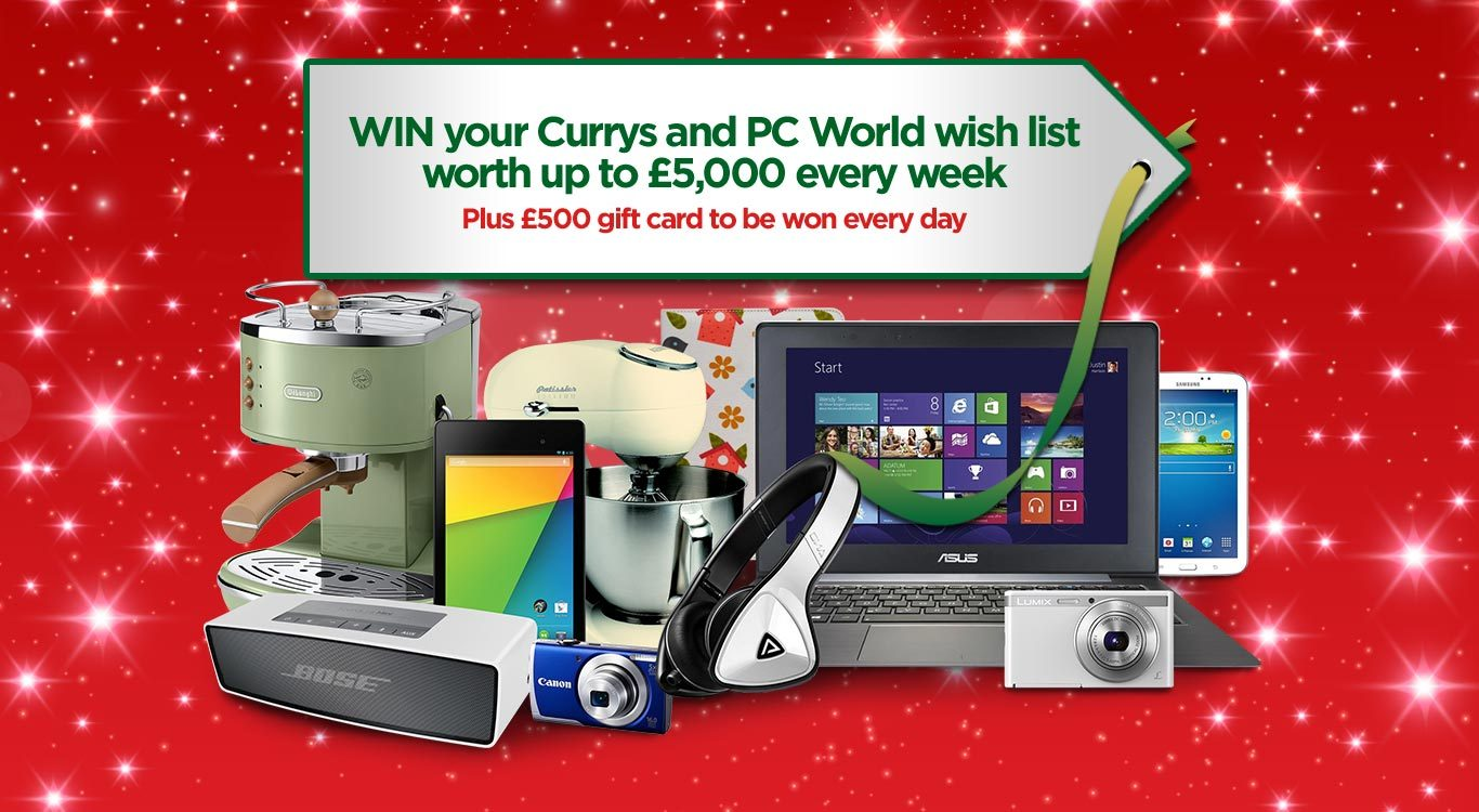 Win Currys PC World Wish List