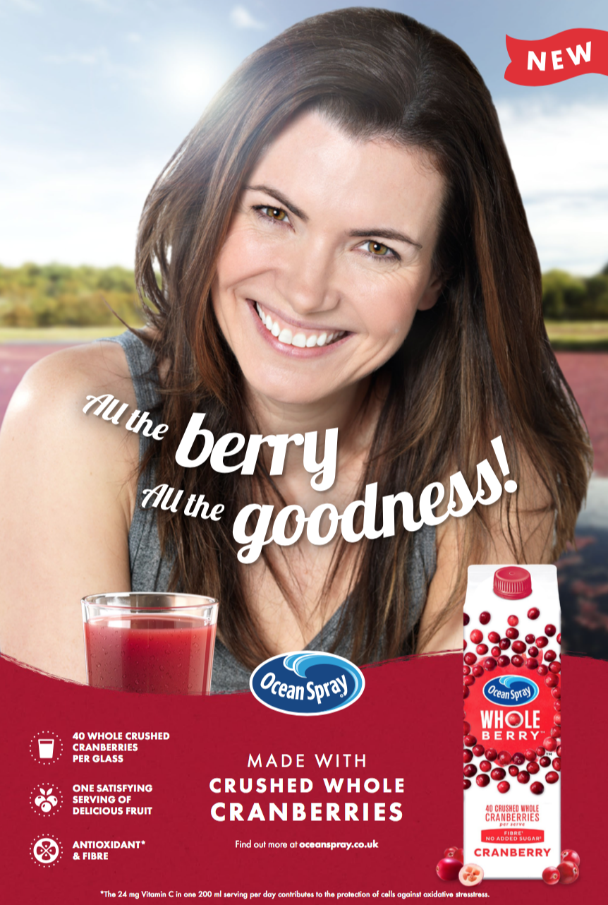 Ocean Spray - Wholeberry press advert